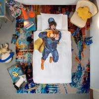 Superhero Blue duvet cover