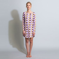 Chocolate Dream Purple Long Sleeve Dress Dames