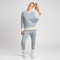 Breton Blue Sweater & Pants Set Women