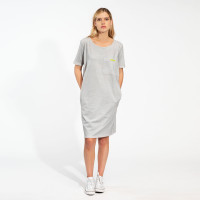 Uni Grey T-shirt Dress Dames