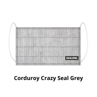 Corduroy Crazy Seal Grey face mask