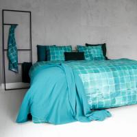 Tiles Emerald Green dekbedovertrek