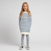 Breton Blue Sweater-Kleid & Leggings Set Kinder