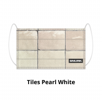 Tiles Pearl White face mask