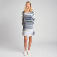 Breton Blue Long Sleeve Dress Women