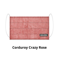 Corduroy Crazy Rose face mask