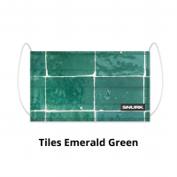 Tiles Emerald Green face mask