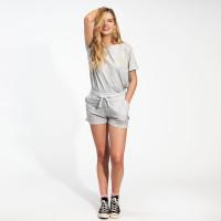 Uni Grey T-shirt & Shorts Set Dames
