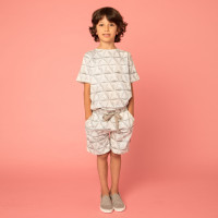 Geogami White Shorts Kids