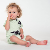 Orca Green T-shirt & Shorts Set Babys