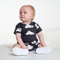 Cloud 9 Grey Black Playsuit Baby