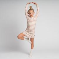 Breton Pink Longsleeve-Kleid Kinder