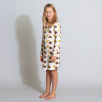 Chocolate Dream Beige Long Sleeve Dress Kids