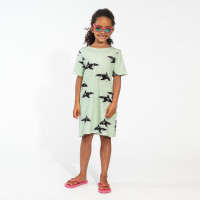 Orca Green T-shirt-Kleid Kinder