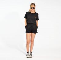 Uni Black T-shirt & Shorts Set Dames