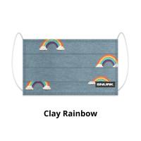 Clay Rainbow face mask