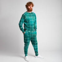Set Pull & Pantalon Tiles Emerald Green Hommes