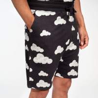 Cloud 9 Grey Black Shorts Heren
