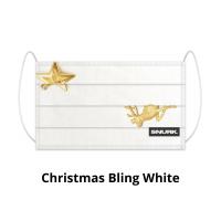 Christmas Bling White face mask