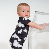 Cloud 9 Grey Black Shorts Baby