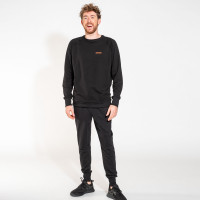 Uni Black Sweater & Pants Set Men