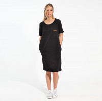 Uni Black T-shirt-Kleid Damen