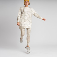 Tiles Pearl White Sweater Dress Dames