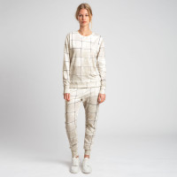 Tiles Pearl White Sweater & Broek Set Dames