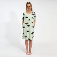 Orca Green T-shirt Dress Dames