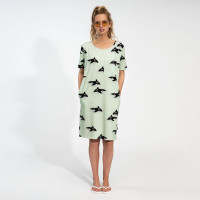 Robe t-shirt pour femme Orca Green