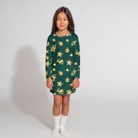 Christmas Bling Green Long Sleeve Dress Kids