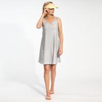 Robe débardeur pour femme Uni Grey
