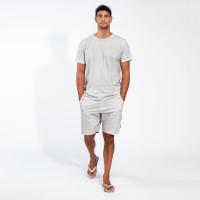 Uni Grey T-shirt & Shorts Set Heren