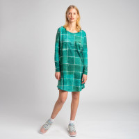 Tiles Emerald Green Long Sleeve Dress Women