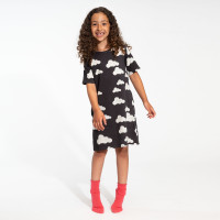 Cloud 9 Grey Black T-shirt-Kleid Kinder