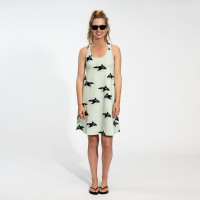 Orca Green Tank Dress Dames